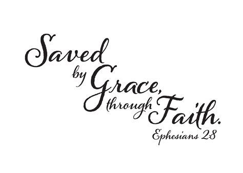 saved by grace tattoo ephesians 2 8 vinyl wall decal 1 saved by grace through faith