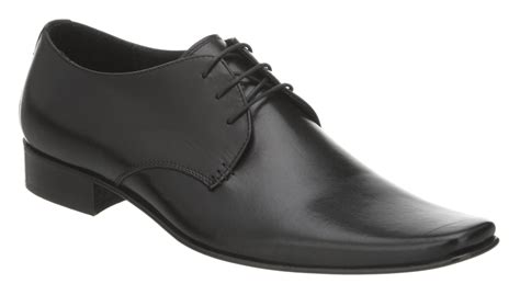 mens office exit chisel gibson black leather formal shoes