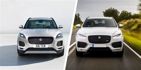 jaguar e pace vs f pace which suv is best carwow