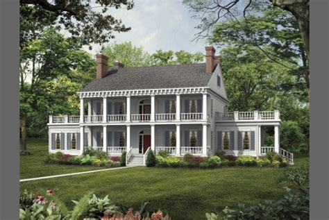 Southern House Plans With Porches Southern Plantations In The 1800s 1800s Southern Style