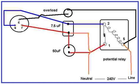 air condition compressor potential relay wiring eee