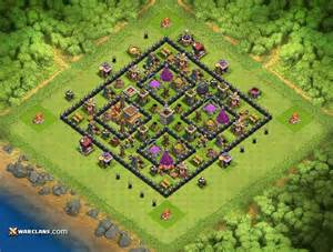 Th8 2016 amazing farming box th8 clash of clans hybrid base layout