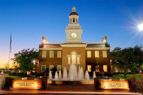 Dbu Mba Admissions Requirements by College Dallas Baptist College Of
