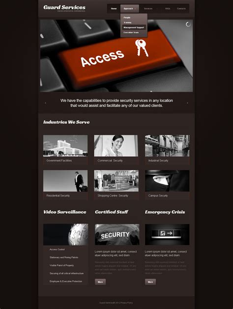 info website information security website template 41054