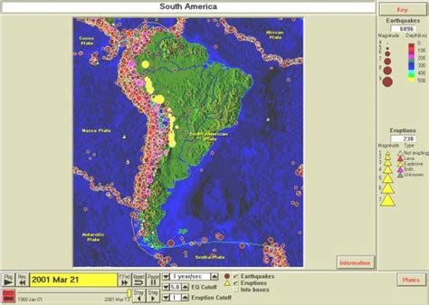 america volcano map volcanism of south america