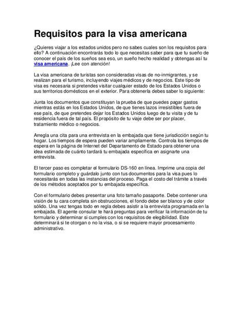visa americana visa americana requisitos 2016 car release date requisitos para tramitar visa visa americana canacope