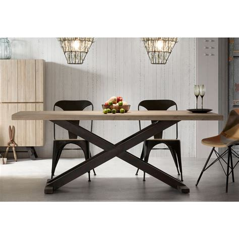 tavolo metallo tavolo da pranzo moderno in legno e metallo easy