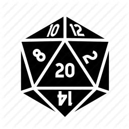 D20 Roleplaying d20 dice tabletop icon icon search engine