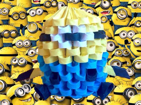 tutorial origami 3d minion minion de origami 3d tutorial my crafts and diy projects