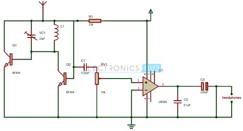 single transistor fm transmitter circuit diagram fm radio circuit tiny single chip fm radio