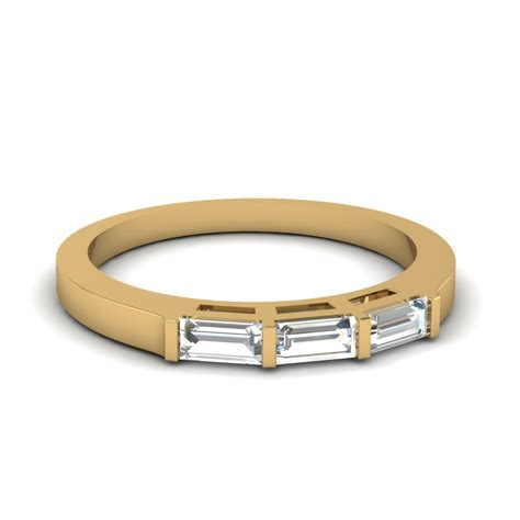 wedding bands with baguettes baguette wedding bands fascinating diamonds