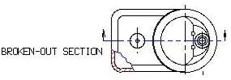 broken out section view machine drawing chapter 6