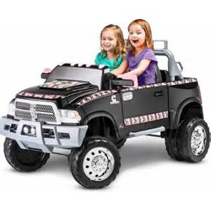 Power Wheels Dually Truck Kidtrax Ram 3500 Dually Longhorn Edition 12 Volt Battery