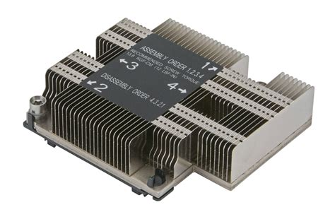 Passive Heat Sink by Supermicro Snk P0067pd 1u Proprietary Passive Cpu Heat
