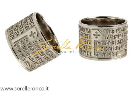la preghiera padre nostro trae tuum padre nostro anelli diamanti