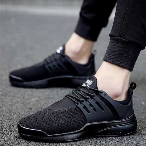 mens black sports shoes unn outdoor running shoe mens sneakers flyknit