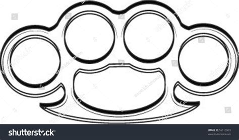 Printable Brass Knuckle Template