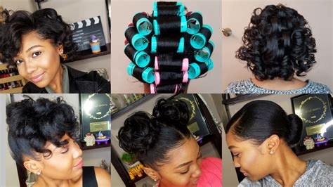 Roller Set Hairstyles by Black Roller Set Hairstyles Fade Haircut