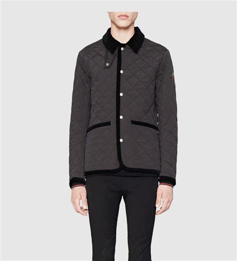 Jaket Gucci 2 lyst gucci black quilted jacket from equestrian collection in black for