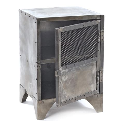 Locker End Table by Vintage Industrial Steel Shoe Locker End Table Kathy Kuo