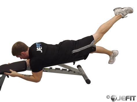 reverse hyper bench alternate leg reverse hyper on flat bench exercise