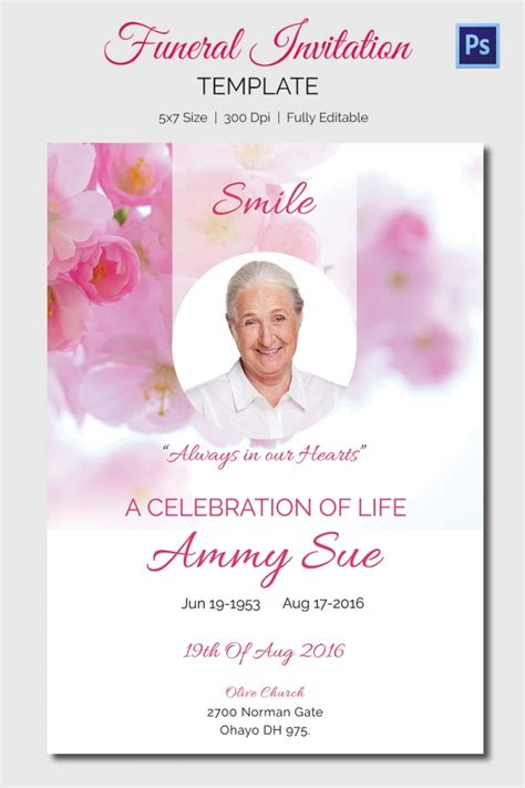 free memorial card templates for mac funeral invitation template uk gallery invitation sle