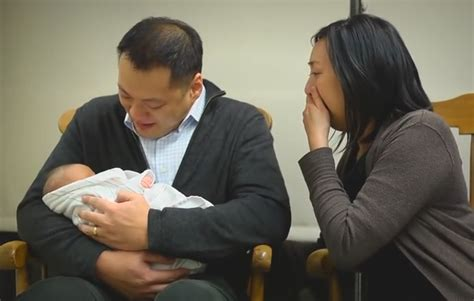 family adopts  abandoned newborn baby reaction