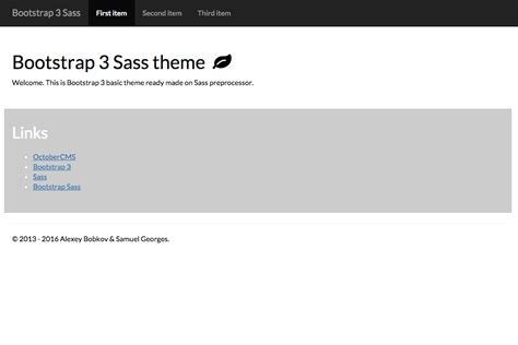 bootstrap themes official bootstrap 3 sass theme october cms