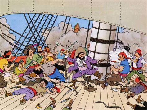 Pirate Ship Wall Mural tintin wallpapers