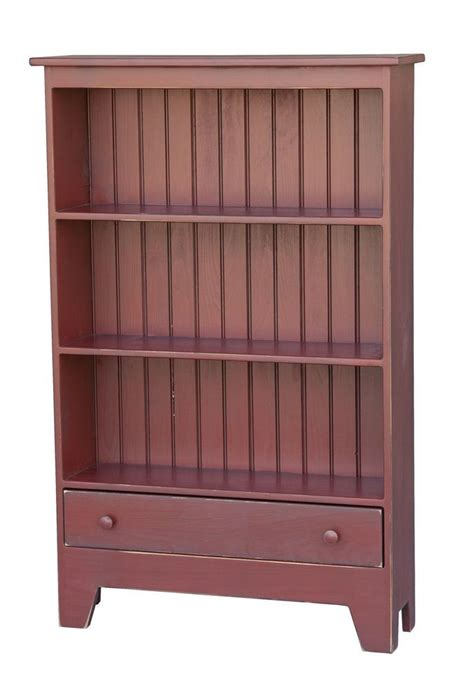 bookcase storage cabinet w drawer primitive amish handmade