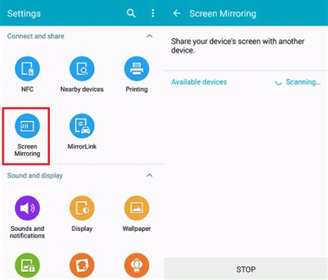 screen mirroring app for android how to mirror android screen to smart tv