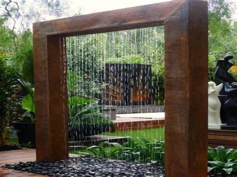 outdoor wall water features diy outdoor water wall