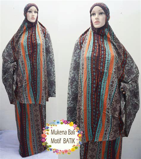 Mukena Batik Katun Abu Salem mukena padang mukena bali motif batik