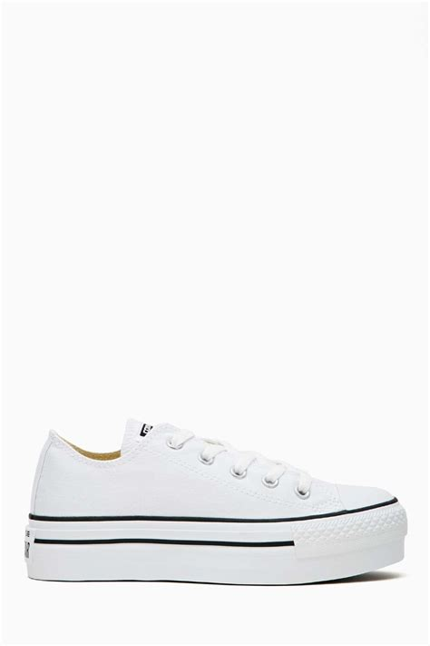 gal converse all platform sneaker in white lyst