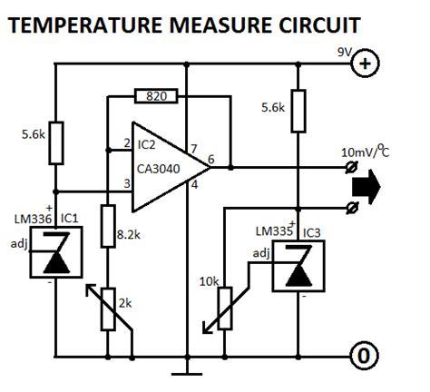 how to measure temperature using diode temperature indicator circuit