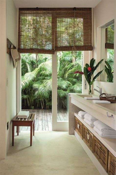 tropical home decor elements with relaxing bathtub with tropical bathroom relaxing tropical bathroom designs for