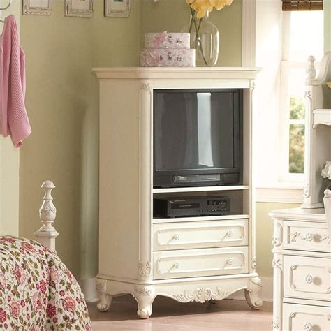 cinderella white tv armoire for girls 1386 7