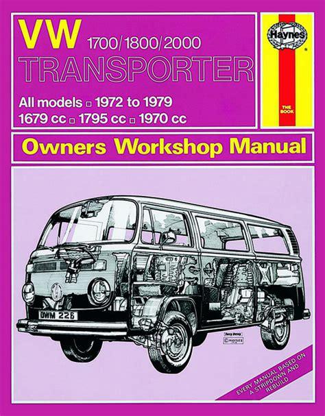 online auto repair manual 2000 volkswagen rio auto manual haynes workshop manual vw type 2 1700cc to 2000cc 1972 to 1979