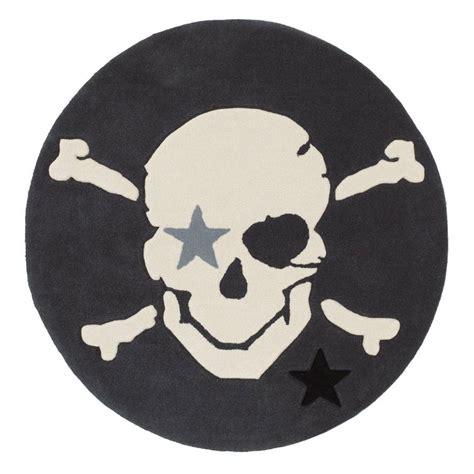 teppich rund flauschiger teppich piratenkopf rund rock baby by