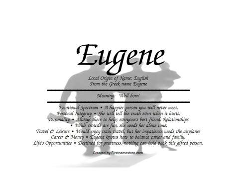 born well definition eugene name means well born