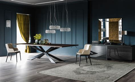 cattelan italia rectangular wooden table spyder wood by cattelan italia