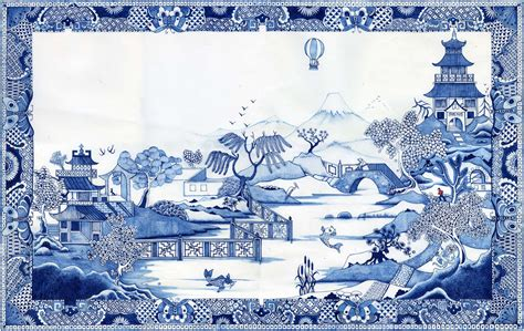willow pattern wallpaper colin thompson desktop pictures