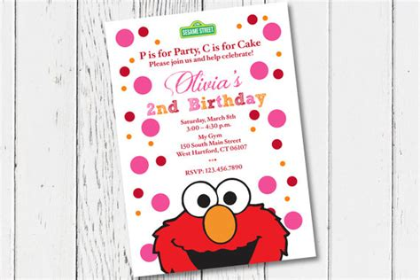 printable birthday cards elmo printable elmo birthday party invitation digital invitation