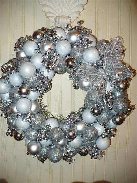 silver christmas wreath christmas pinterest
