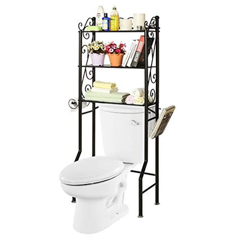 Metal Etagere Bathroom The Toilet Metal Scrollwork 3 Shelf Bathroom Etagere Storage Organizer Rack W Magazine
