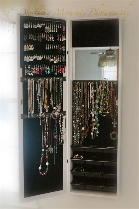 The Door Mirror Jewelry Organizer by Mirror Jewelry Armoire Cabinet Door Organizer Or Wall