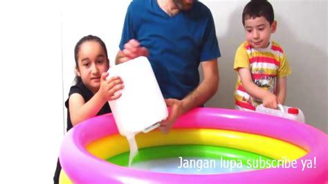 youtube cara membuat slime jumbo cara membuat slime terbesar di dunia slime jumbo 50 kg