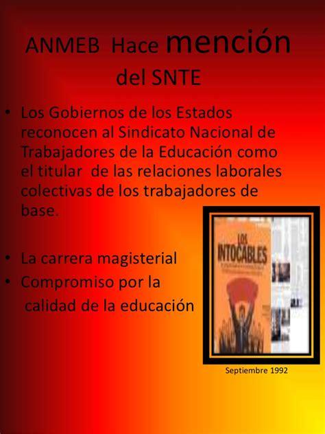 sindicato nacional de trabajadores de la educacin sindicato nacional de trabajadores de la educacion