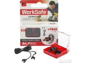 alpine worksafe oordopjes gehoorbescherming werk
