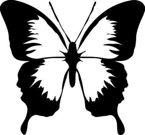 butterfly pattern black and white clipart black white butterfly images clipart best